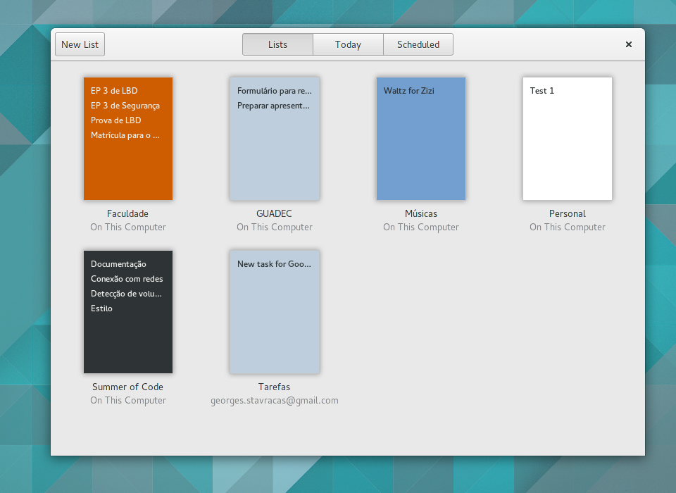 gnome todo task lists 2