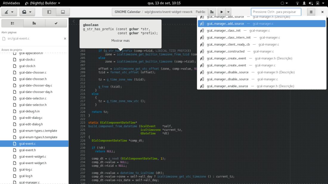 GNOME Builder 3.26